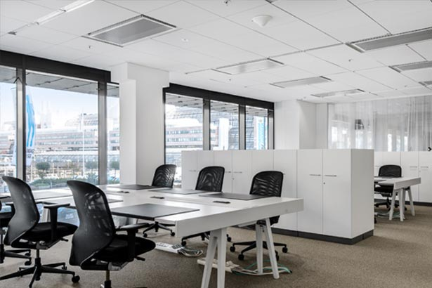 Commercial air conditioning in a large office space in Coffs Harbour