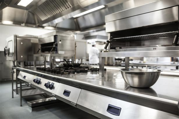 A large commercial kitchen space in a restaurant in Coffs Harbour