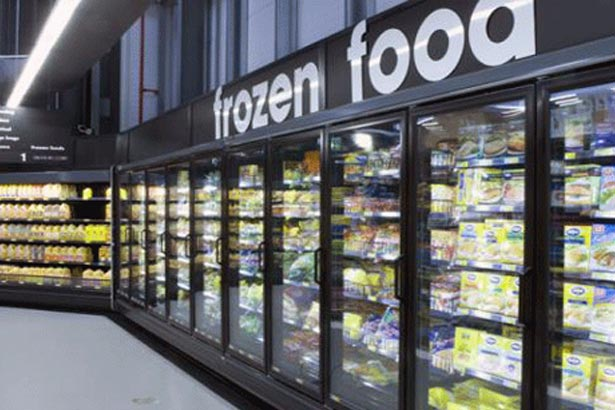 A large commercial freezer in a grocery store in Coffs Harbour